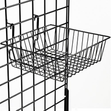 "Gridwall Basket: 12"" x 12"" x 4"" Accessory"