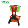 Convenience Store 2 Tiers Plastic Shopping Carts with Basket