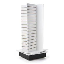 Four Side Spinner Free Standing Slatwall Systems