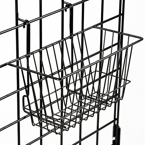 "Gridwall Baskets: for Slatwall and Gridwall 12"" x 6"" x 6"""
