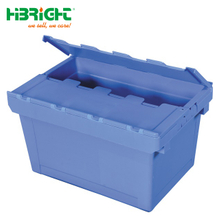 Stackable Plastic Crate with Lid for Storage