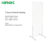 T base Gridwall Display Stand
