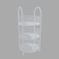 Three layers circular diaplay shelf