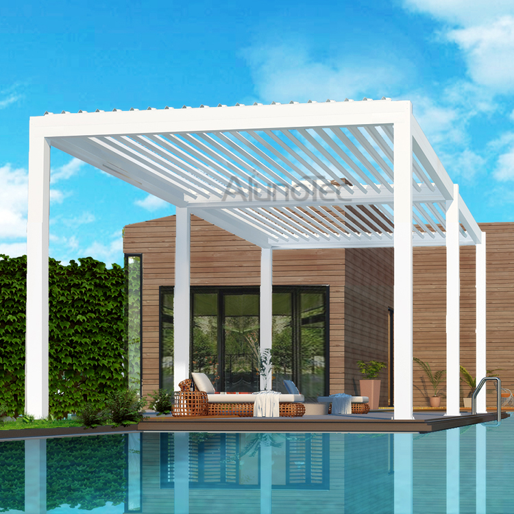 Motorised Aluminum Swimming Pool Pergolas Patio Covers