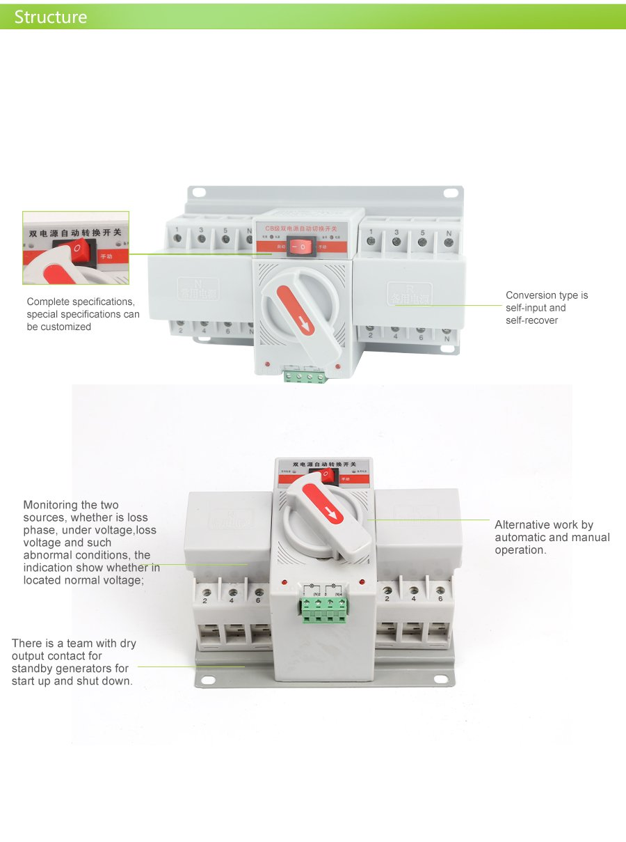 Automatic Transfer Switchgenerator Switch Product Q1 Manual Electrical Generator Changeover Scaq1 01 02