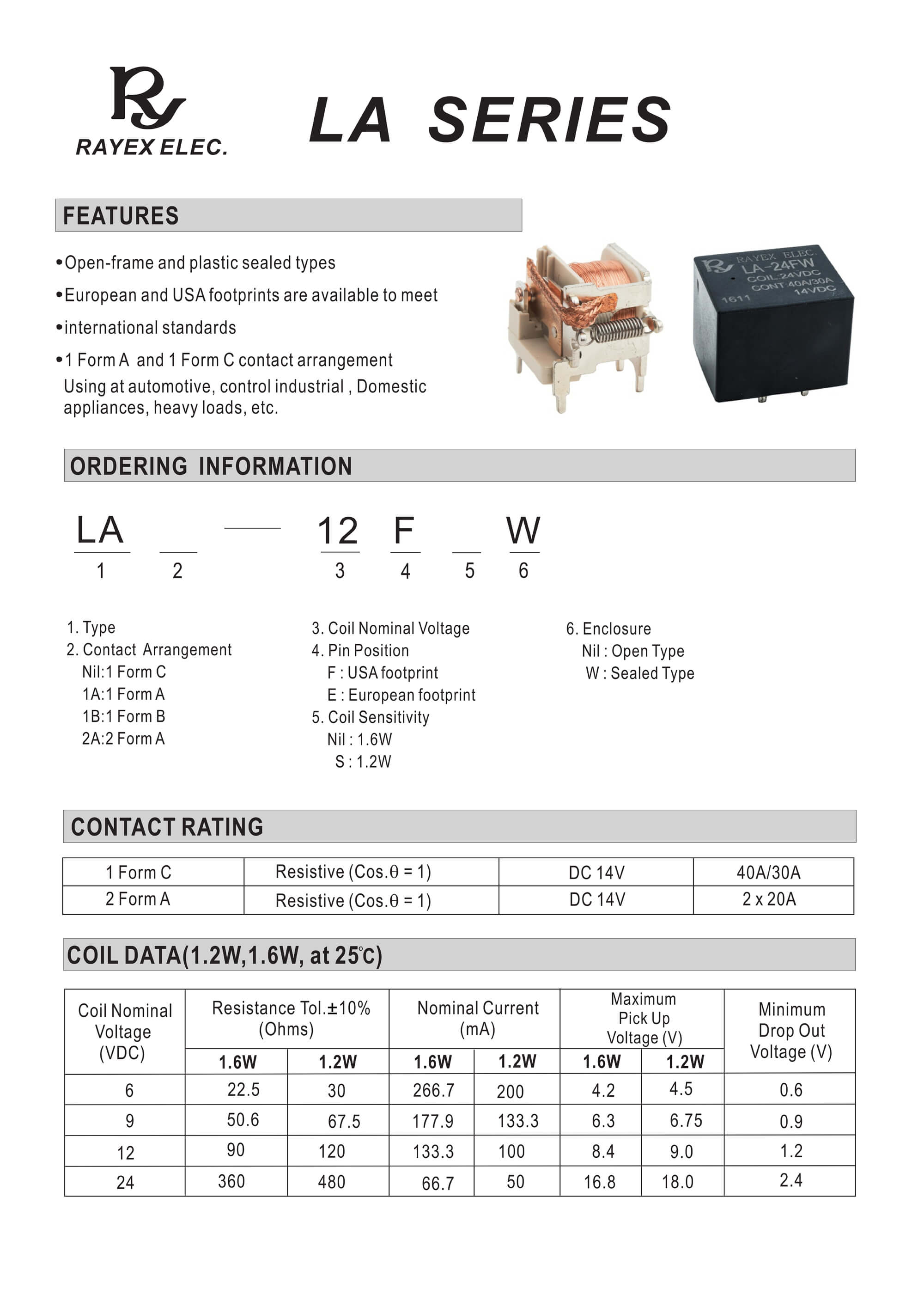 5 Pin Relay Explained 1 Form A La Series Buy 12 Volt 4 Automotive