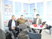 2014,Euroshop Dusseldorf Germany exhibition,the new and old customers negotiated business